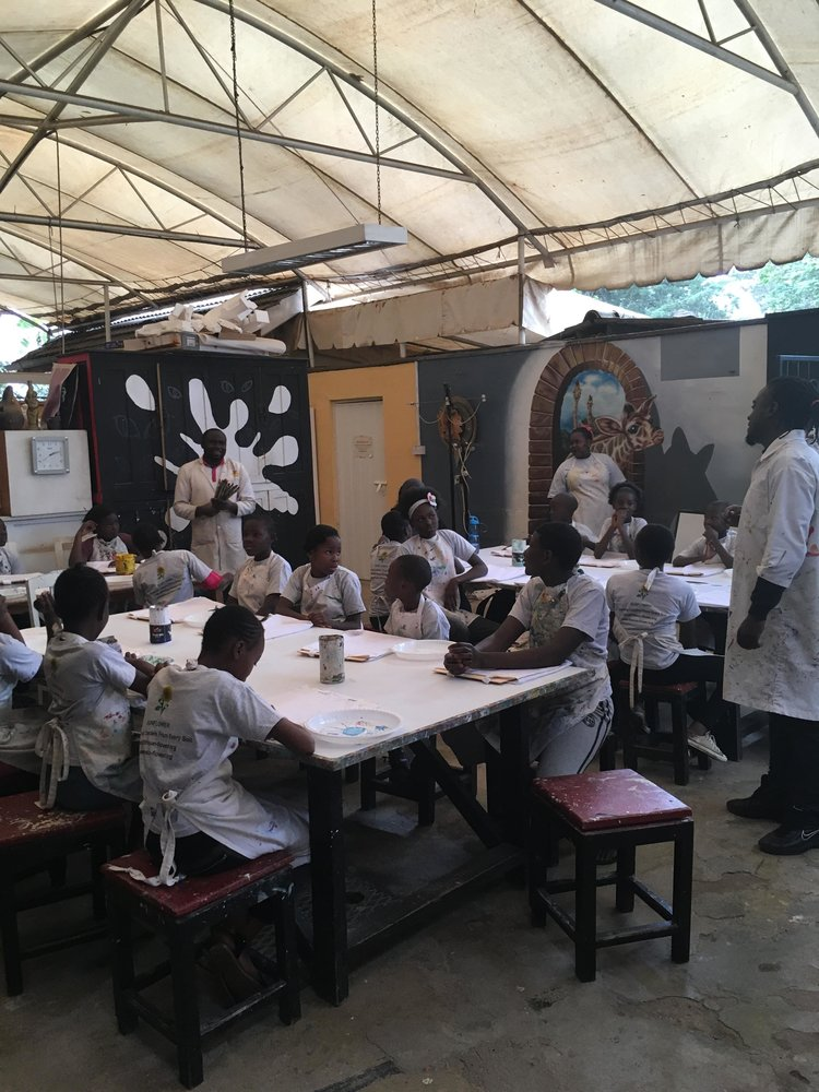 Art Class At Nairobi Art Studio
